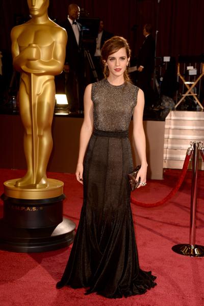 Эмма Уотсон на вручении премии Оскар 2013
